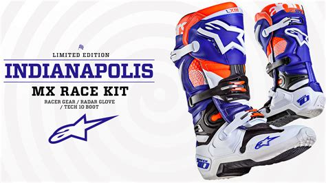 what channel is the motocross race alpinestars limited edition indianapolis mx race kit