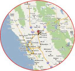 Northern California Casinos Map
