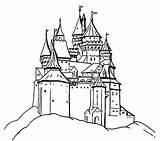 Castle Coloring Pages Library Clipart Clip sketch template