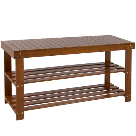 bamboo shoe rack bamboo shoe storage bench