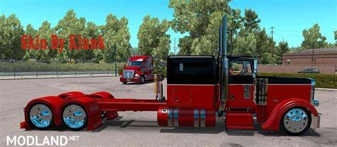 peterbilt  redblack skin mod  american truck