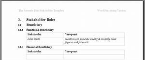 A taxonomy of stakeholders for Volere template free download