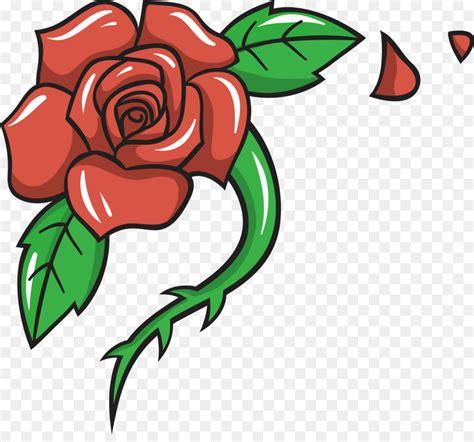 Gambar Bunga Mawar Kartun Gambar Bunga