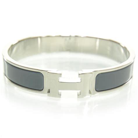 clic clac h hermes bracelet hermes enamel clic clac h narrow bracelet grey 25369