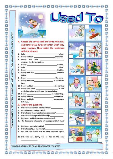 used to worksheet free esl printable worksheets made by teachers