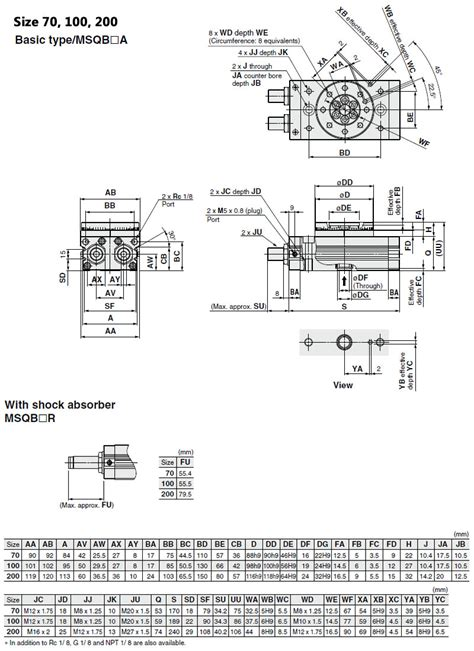 Msqmsq Series Rotary Cylinderrotary Actuatorpneumatic
