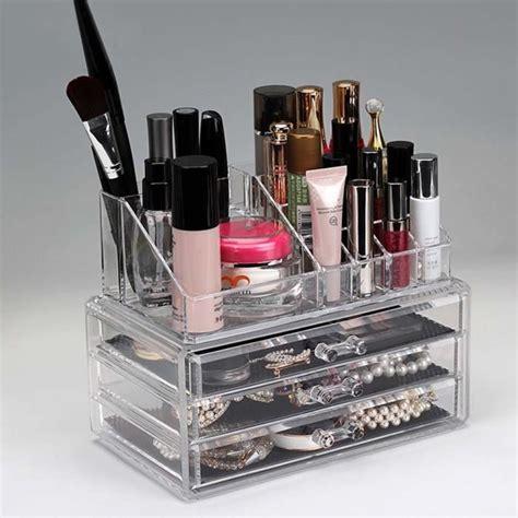 boite a maquillage rangement bo 238 te de rangement maquillage cosm 233 tiques 3 tiroirs grilles 2 niveaux affichage achat vente