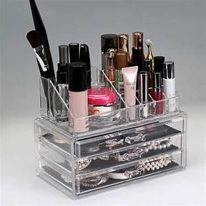 Rangement De Maquillage : bo te de rangement maquillage cosm tiques 3 tiroirs grilles 2 niveaux affichage achat vente ~ Melissatoandfro.com Idées de Décoration