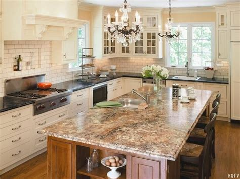 kitchens with two different colored countertops 2016 kitchen countertop trends design remodel 9635