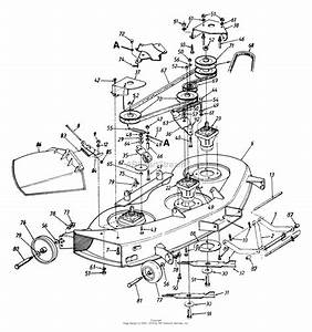 Mtd 143w834h401  1993  Parts Diagram For Deck Assembly