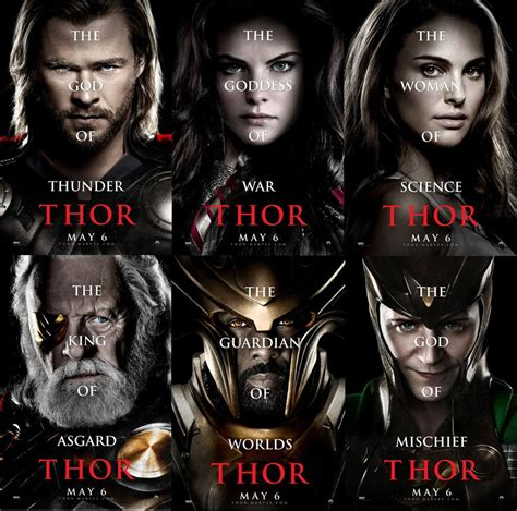 Six New Thor Character Posters Filmofilia