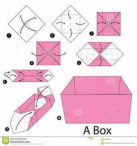 Step By Step Instructions How To Make Origami A Box  Stock