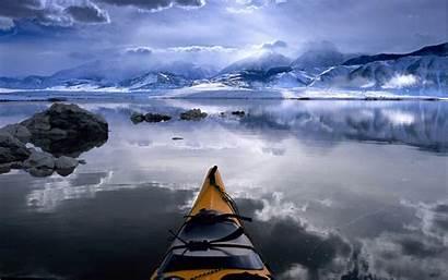 Alaska Wallpapers Cold Canoe Winter Resolution Nature