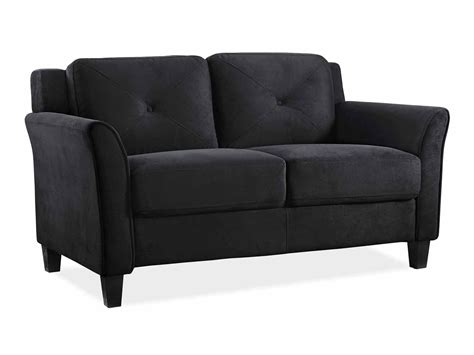 Black Microfiber Sofa And Loveseat by Hartford Black Loveseat With Curved Arm By Lifestyle