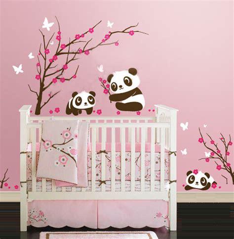 chambre panda 25 idées stickers pour décorer la chambre de votre bébé