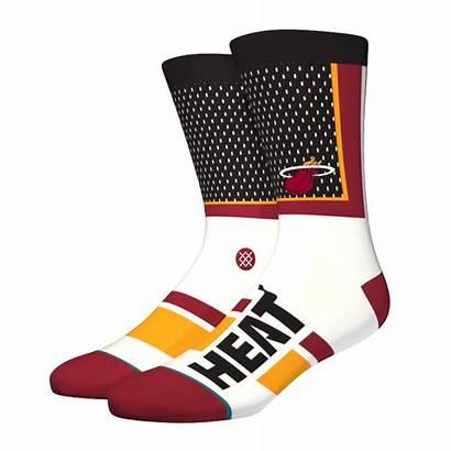Heat Nba Miami Chaussettes Shortcut Stance Socks