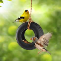 swingtime ceramic tire swing bird feeder the green