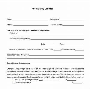 9 commercial photography contract templates free word With simple wedding photography contract template