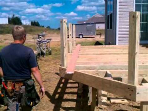 Free Standing Deck Framing by How To By Lbcanddreamdecks On Framing A Free Standing Deck