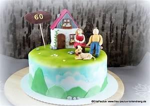 Torte mit haus und parchen auf bank mit anleitung cake for Küchenb nke