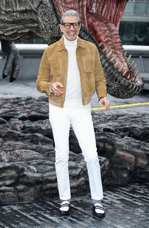 Jeff Goldblum Jurassic World: Fallen Kingdom Press Tour ...