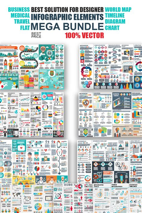 business infographic elements bundle infographic elements