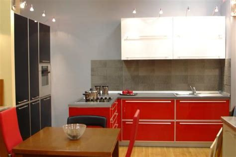 50 Plus 25 Contemporary Kitchen Design Ideas, Red Kitchen Cabinets For Small Spaces