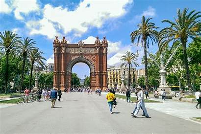Barcelona Places Tourist Sagrada Familia Triunfo Arco