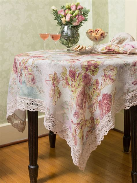 victorian rose linen tablecloth linens kitchen tablecloths beautiful designs by april cornell