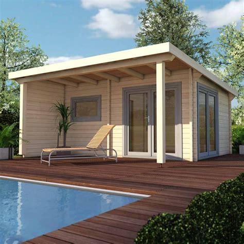 gartensauna mit vorraum infraworld premium 70mm pultdachhaus gartensauna poolhaus aus nordischer fichte 1