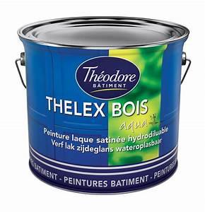 thelex bois aqua 3l peinture laque satinee interieure With peinture acrylique pour bois exterieur