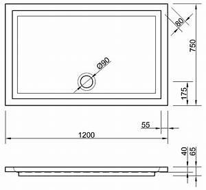 Bodengleiche Duschwanne 120 : duschwanne 120 x 75 x 4 cm duschwanne duschtasse rechteck ~ Lizthompson.info Haus und Dekorationen