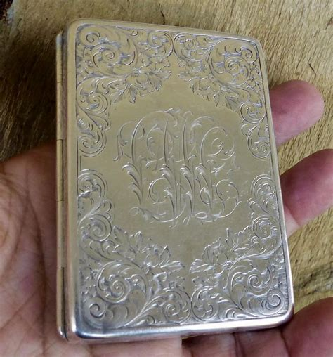 Welcome to our reviews of the tiffany silver business card holder (also known as currency converter calculator). Antique Sterling Silver Tiffany & Co Business Card Holder : CC's Treasures | Ruby Lane
