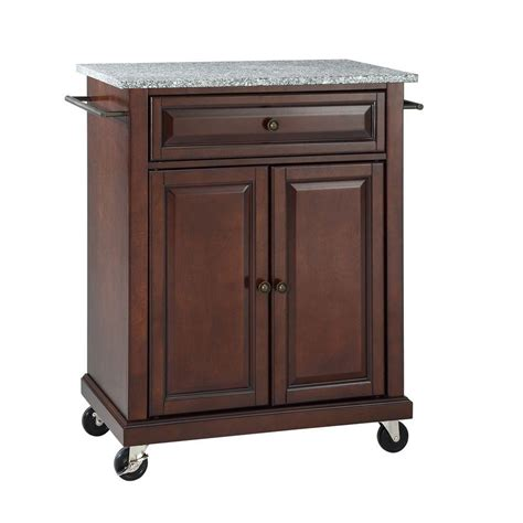 solid wood kitchen island cart crosley 28 1 4 in w solid granite top mobile kitchen