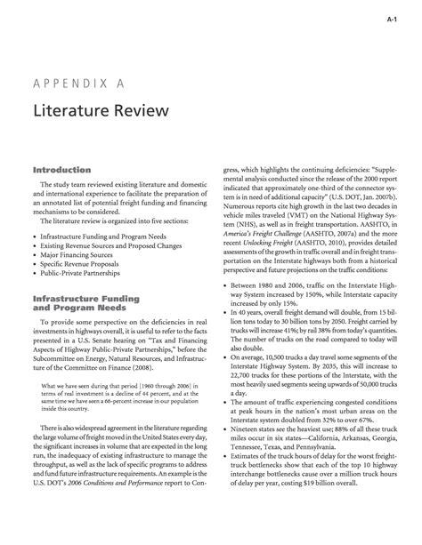 appendix  literature review dedicated revenue