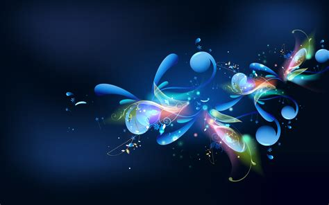 Abstract Wallpaper Desktop by Wallpaper 7 Blue Harmony Wallpapers