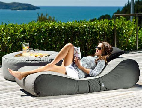 cushioned patio furniture outdoor bean bag lounger