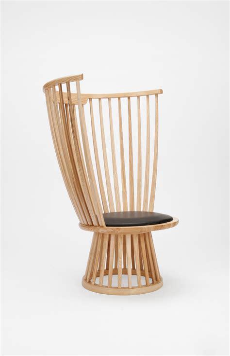 fauteuil fan chair dossier haut   cm bois naturel