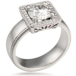vintage modern square engagement ring