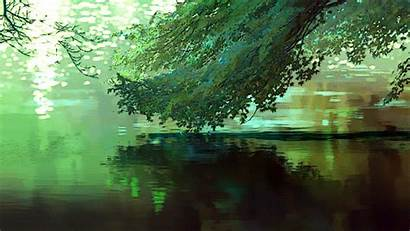 Forest Anime Garden Words Background Gifs Scenery
