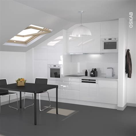 meuble de cuisine blanc brillant cuisine blanche sans poignée ipoma blanc brillant interiors kitchens and house