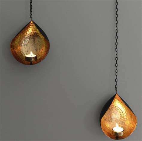 hanging tea light holders hanging gold and black tea light holder by the forest co