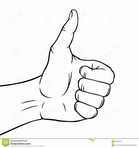 Black and white thumbs up stock vector. Illustration of ...