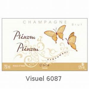 Etiquette Champagne Mariage : etiquette personnalisee pour bouteille de champagne pour mariage ~ Teatrodelosmanantiales.com Idées de Décoration