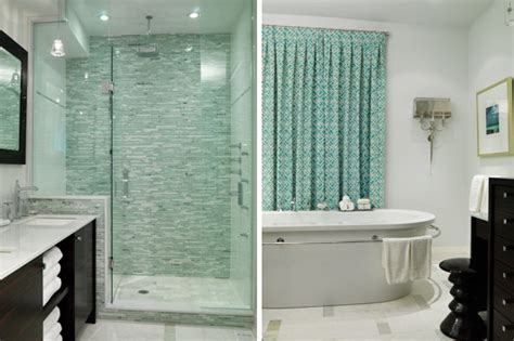 Gray And Aqua Bathroom by Lunchtime Fix Photos Richardson Bathrooms