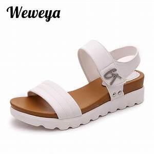 Weweya 2017 Summer Gladiator Sandals Women Aged Leather ...