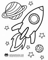 Rocket Coloring Space Printable Ship Outer Cat Cats Spaceship Planets sketch template