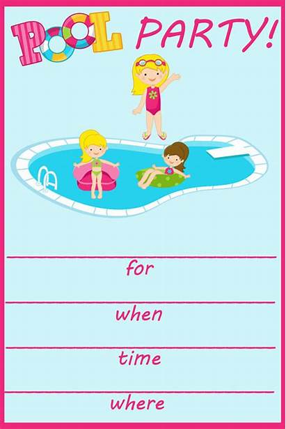 Pool Party Invitation Birthday Templates Fill Invites