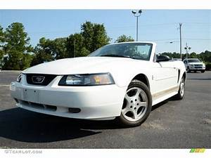 2003 Oxford White Ford Mustang V6 Convertible #85310181 | GTCarLot.com - Car Color Galleries