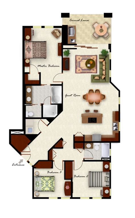 3 bedroom 2 bathroom kolea floor plans